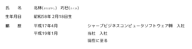 北林巧巳プロフィール(5)